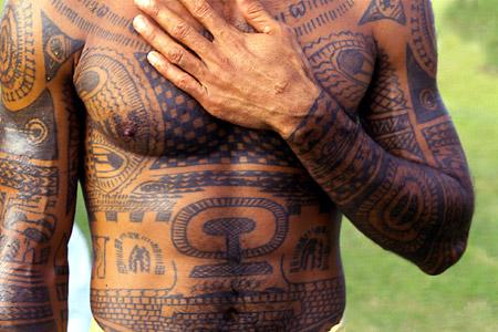 Tatouage-polynesien-sur-tout-le-bras Par Tahiti Tattoo Dans Le Var